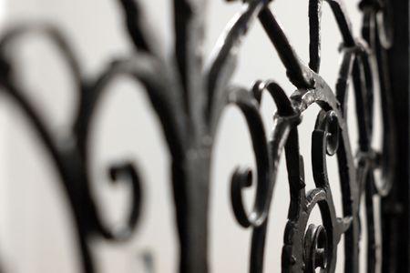 puertas de hierro: Fragmento de celos�a decorativo