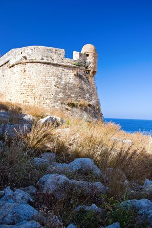 fortezza: Venetian Fortezza in Rethymno, Crete, Greece Stock Photo