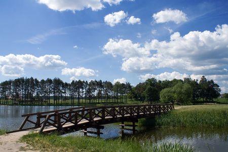 Wooden little bridge in a park Stock Photo - 6604262
