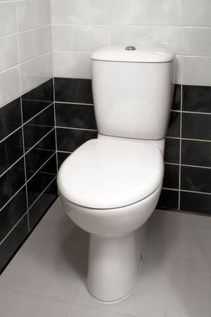 Modern clean toilet bowl Stock Photo - 6679355