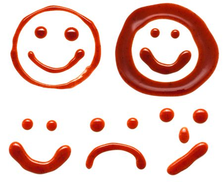 ketchup smiles isolated on a white background Reklamní fotografie - 6729614