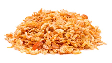 Heap of dried shrimps isolated on a white background Stock Photo - 9223046