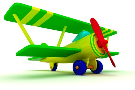 Toy airplane isolated on the white background photo