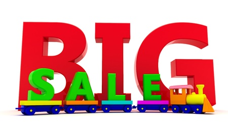 Toy train with letters BIG sale photo