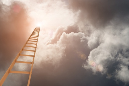 Ladder to the break in the clouds Stock Photo - 9321471