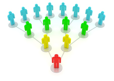 Group of people in a social network isolated on the white background photo