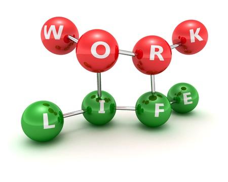 correlation: Correlation scheme of work and life  Stock Photo