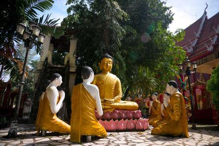 nang: Buddha meditating in Wat Phra Nang Sang in Phuket, Thailand