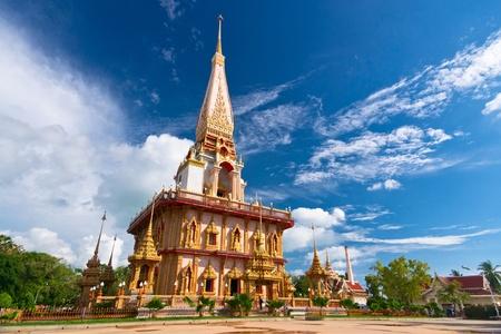buddhist stupa: Buddhist stupa in Wat Chalong temple, Thailand