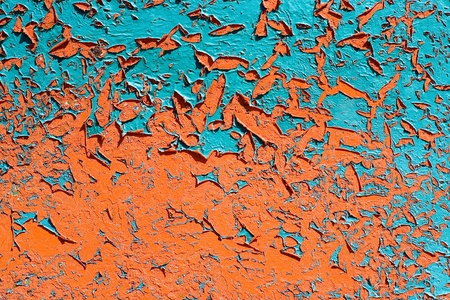 Texture of bright paints shabby wall photo