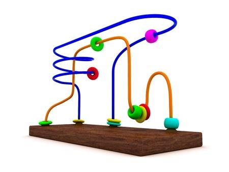 developmental: Colorful developmental toy isolated on white background