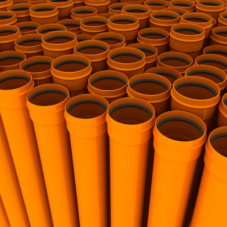 boundless: Boundless quantity of drain pipes Stock Photo