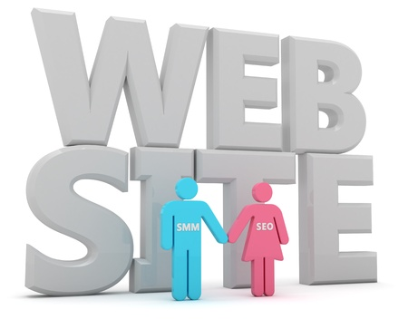 SMM and SEO are advanced web technologies Stock Photo - 9729365