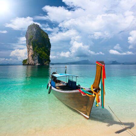 andaman sea: Longtail near Poda island, Krabi province, Thailand