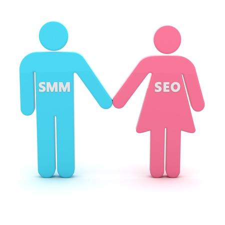 SMM and SEO are advanced web technologies photo