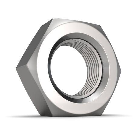Really big screw nut isolated on white Stock Photo - 9729497