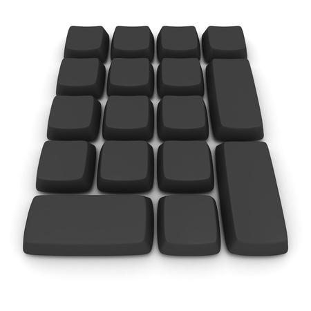 Black computer keys without symbols photo