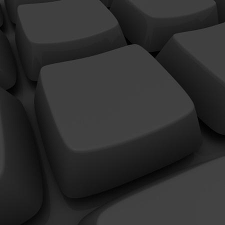 Blank black key in a keyboard photo