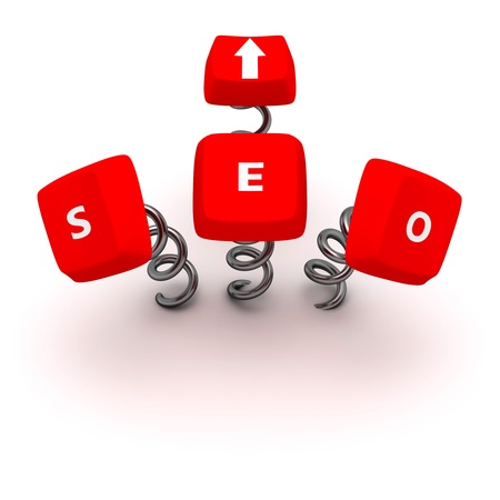 Computer keys Search Engine Optimization on springs photo