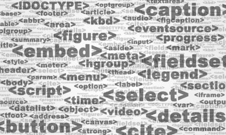 html: Abstract background by HTML 5 tags Stock Photo
