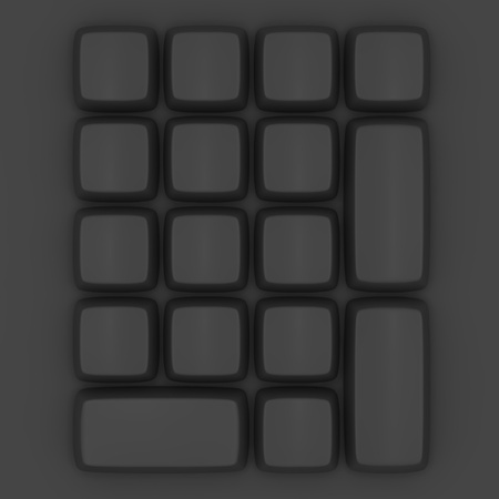 Topview of a blank black keypad photo