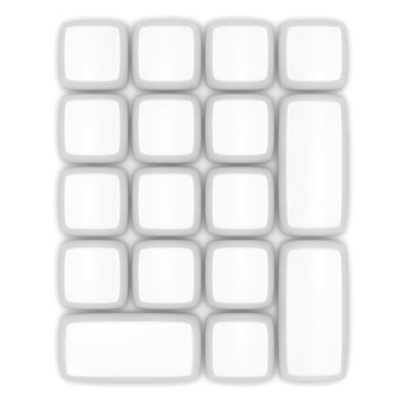 Topview of a blank white keypad photo