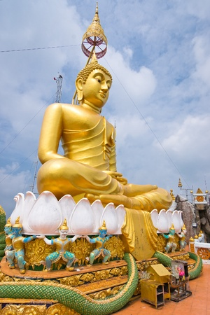 Big statue of Golden Buddha in Tiger temple, Krabi province, Thailand Stock Photo - 9971812