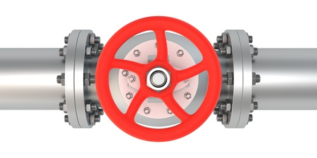 Top view of powerful valve