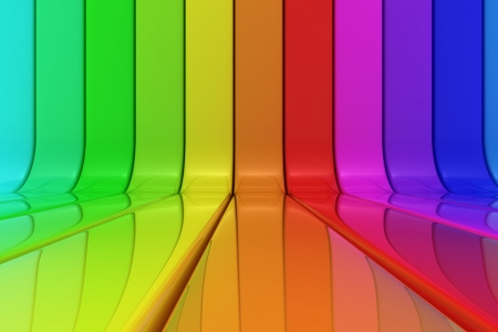 Striped shiny pattern of rainbow colors photo