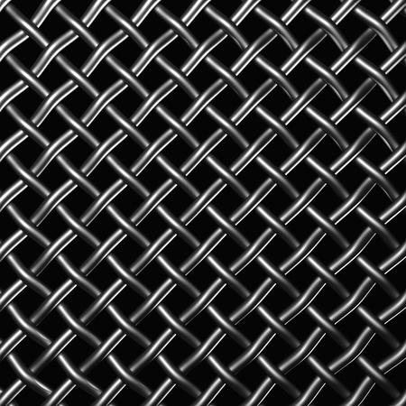 wire mesh: Metal wire mesh isolated on the black background
