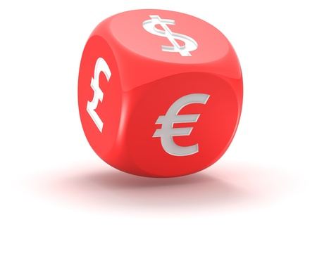Financial dice  isolated on the white background Stock Photo - 10621185