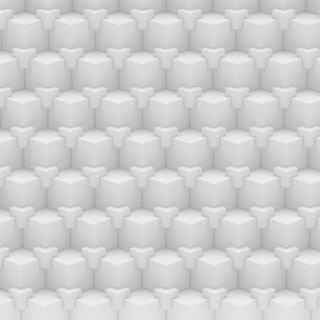 Geometric abstract background made of  white cubes  photo