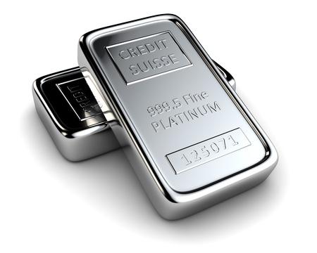 lingotto: Due lingotti di platino si trovano gli uni sugli altri