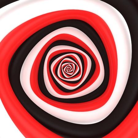 Triangular vortex of black, white, red colors photo
