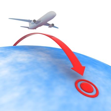 destinos: Avi�n que vuela hasta el punto de destino