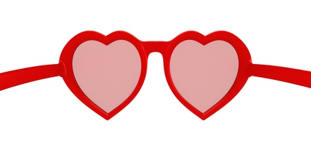 rose coloured: Rose colored glasses - symbol of hope, happiness and love Stock Photo