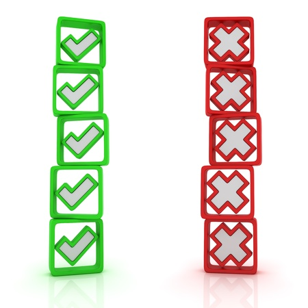 Two columns of oppositional voices Stock Photo - 13404898