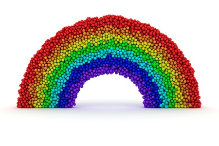Rainbow made from many bubbles on white Stock Photo - 13882053