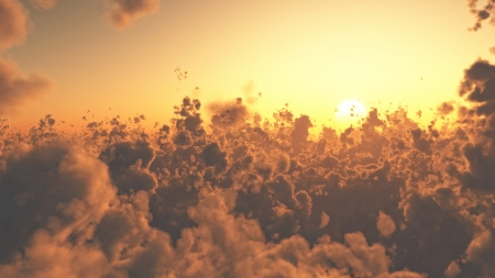 Aerial view of beautiful cloudscape at sunset Stock Photo - 14317664