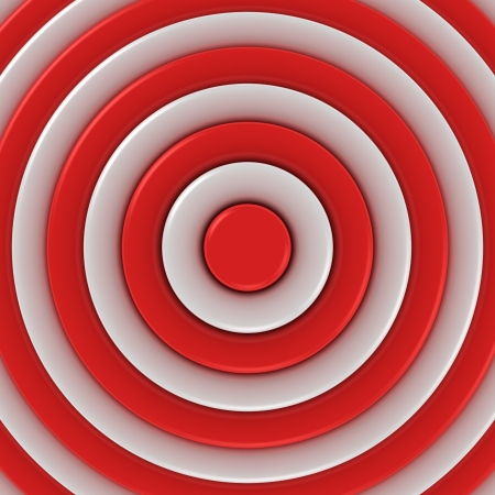 Red and white concentric abstraction photo