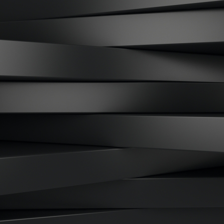 Abstract black panels with copyspace for text OR dark 3D background photo