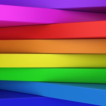 テキストまたはちょうど活気に満ちた 3 D 背景の copyspace と抽象的な虹色のパネル 写真素材