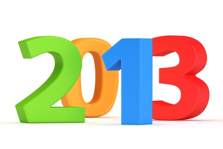 Big colorful digits 2013 on the white background Stock Photo - 15839346