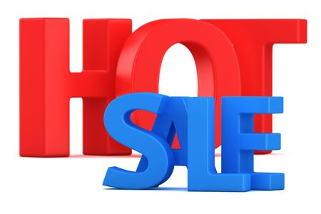 Text Hot sale on the white background photo