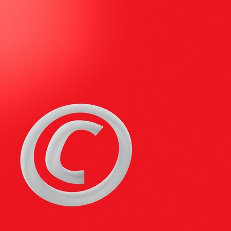 authorship: Copyright symbol on the red background