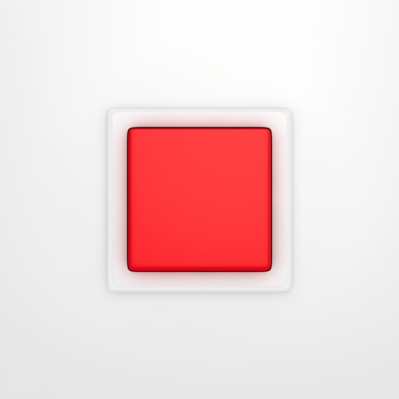 Red panic button isolated on the white background Stock Photo - 17213522
