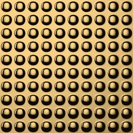 Round knobs on the golden metal template Stock Photo - 17758193