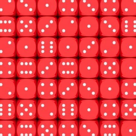 Rows of red dice, 3d background photo