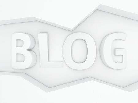 Three-dimensional word Blog in the zig-zag frame Stock Photo - 18534069