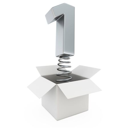 number one: Chrome number one on spring in the gift box